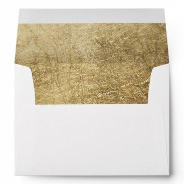 blush_invitations Luxury faux gold leaf wedding envelope