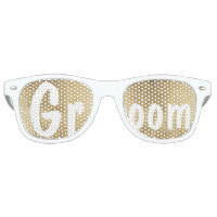 Luxury faux gold leaf wedding Groom Retro Sunglasses