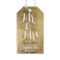 Luxury faux gold leaf wedding Thank you Gift Tags