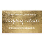 Luxury faux gold leaf wedding website Double-Sided standard business cards (Pack of 100)