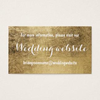 Luxury faux gold leaf wedding website business card