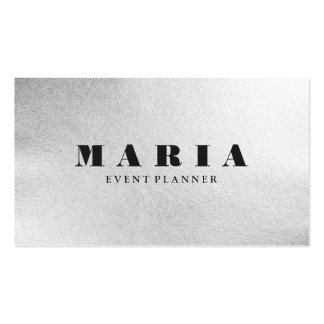 Luxury faux silver black texture chic professional business card