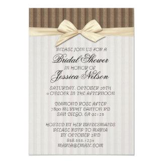 Luxury Fine Line Damask Ribbon Shower Invite