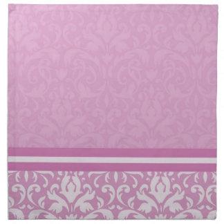 Luxury Floral Light Pink Damask Napkins