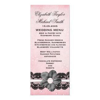 Luxury Flower Black Lace Menu Custom Invite
