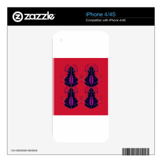 Luxury folk arabic Ornaments RED iPhone 4 Skin