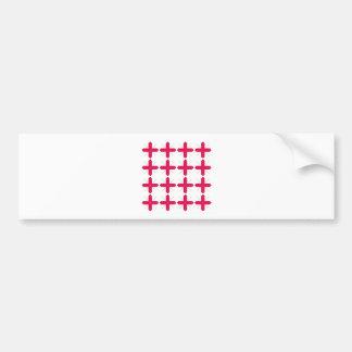 Luxury folk ornaments red white bumper sticker