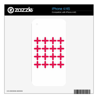 Luxury folk ornaments red white iPhone 4S decals