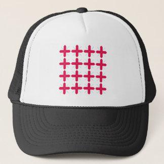Luxury folk ornaments red white trucker hat