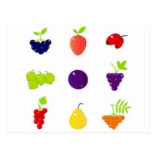 Luxury fruit design edition postcard