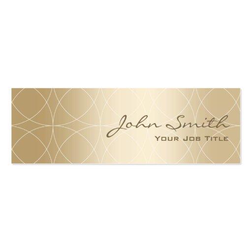 Luxury Geo Circles Gold Mini Business Card