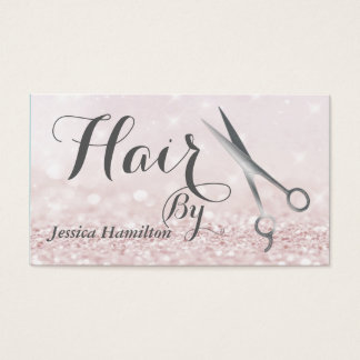 Luxury glam elegant faux glitter appointment card