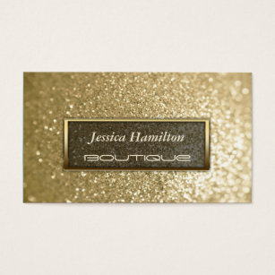 Elegant luxury glamorous business cards templates zazzle luxury glamorous modern elegant faux gold glitter business card reheart Image collections
