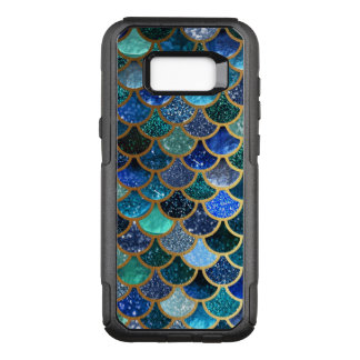 Luxury glitter Blue Teal Mermaid scales OtterBox Commuter Samsung Galaxy S8+ Case
