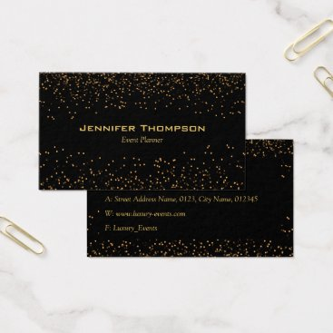 Professional Business Luxury Glitter Gold Business Card
