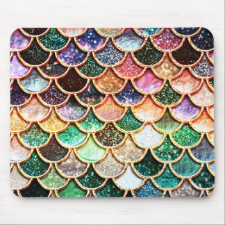 Luxury Glitter Mermaid Scales - Multicolor Mouse Pad