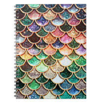 Luxury Glitter Mermaid Scales - Multicolor Notebook