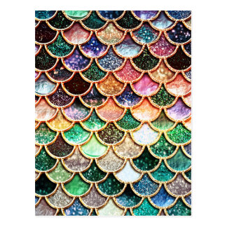 Luxury Glitter Mermaid Scales - Multicolor Postcard