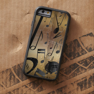 Luxury Gold and Black Music Notes iPhone 6 Case