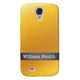 Luxury gold and carbon business samsung galaxy s4 cases