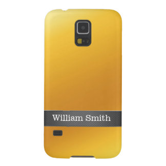 Luxury gold and carbon business galaxy s5 case