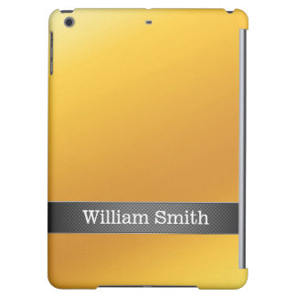 Luxury gold and carbon business iPad air cases