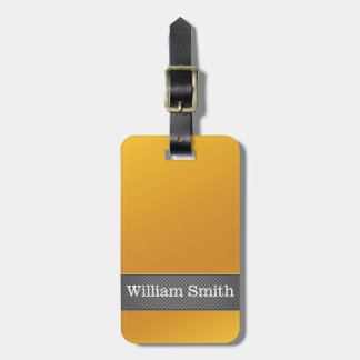 Luxury gold and carbon business travel bag tags