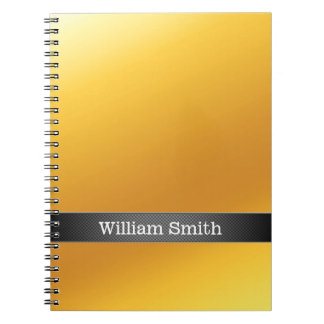 Luxury gold and carbon business spiral note book