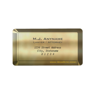Luxury gold bar effect Lawyer / Attorney design Label