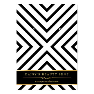 Luxury Gold Black White Earring Display Cards
