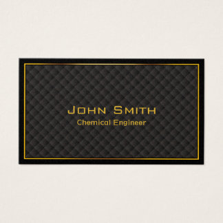 Luxury Gold Border Chemical Engineer Business Card