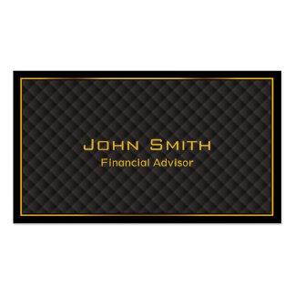 Luxury Gold Border Financial Advisor Business Card