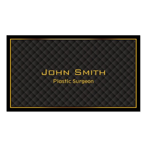 Luxury Gold Border Plastic Surgeon Business Card