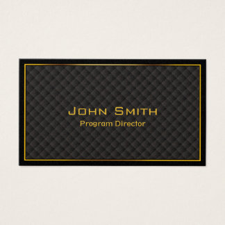 Luxury Gold Border Program Director Business Card