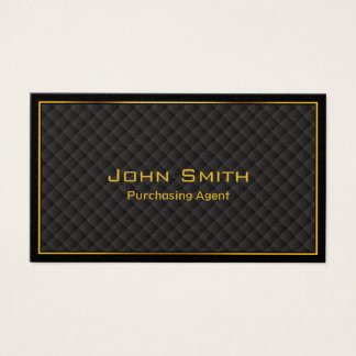 Luxury Gold Border Purchasing Agent Business Card