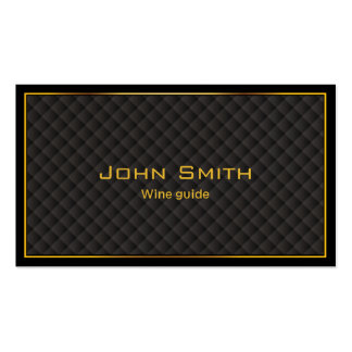 Luxury Gold Border Wine Tasting Business Card