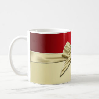 Luxury  Gold Christmas Ribbon Mug