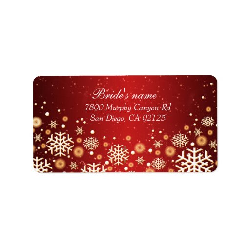 Luxury Gold Christmas Spirit Address label Custom Address Label