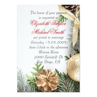 Luxury Gold Christmas Winter Wedding Invite