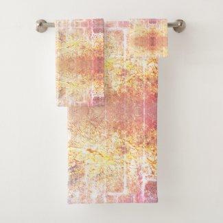 Luxury Gold Elegant Abstract Bath Towel Set