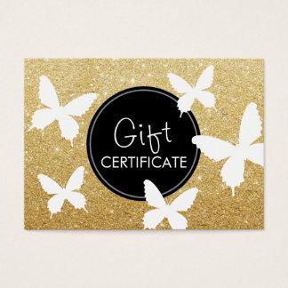 Luxury Gold Glitter Butterflies Gift Certificates