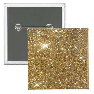 Luxury Gold Glitter - Printed Image Button