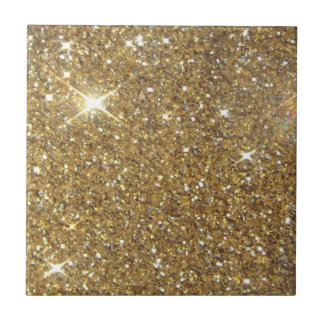 Luxury Gold Glitter - Printed Image Ceramic Tile