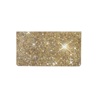Luxury Gold Glitter - Printed Image Checkbook Cover