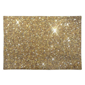 Luxury Gold Glitter - Printed Image Cloth Placemat