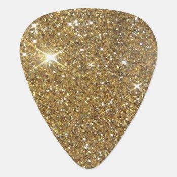 Luxury Gold Glitter - Printed Image Guitar Pick by Tannaidhe at Zazzle