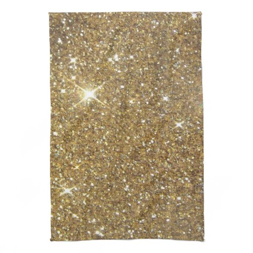 Luxury Gold Glitter - Printed Image Hand Towel
