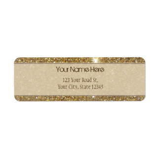 Luxury Gold Glitter - Printed Image Label