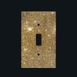 """Luxury Gold Glitter - Printed Image Light Switch Cover<br><div class=""""desc"""">This is a rather bokeh variety printed out picture of shimmering,  gorgeous gold glitter. Rather simple,  but truly stunning! Don&#39;t skip out on the choice to bring a measure of refinement and even richness in your life!   Note: Glitter is printed.</div>"""