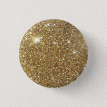 Luxury Gold Glitter - Printed Image Pinback Button